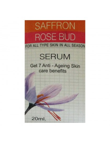 Khadi India Fairy Glow Eco Essentials Saffron & Rose Bud Serum, Get 7 Anti-Ageing Skin Care Benefits (20ml)