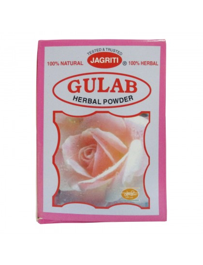 Khadi India Jagriti Gulab Herbal Powder (100gm)