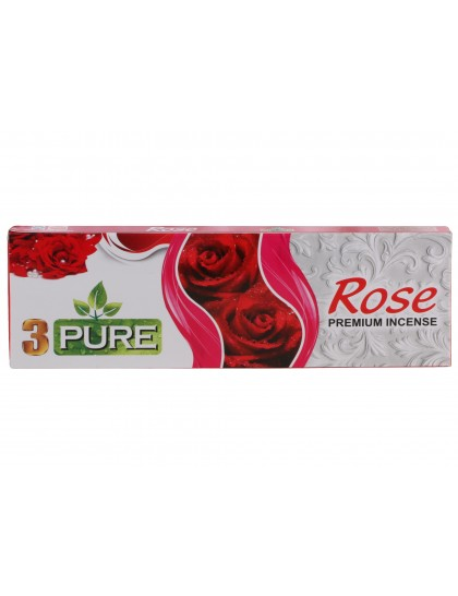 Khadi India 3 Pure Rose Premium Incense Box (100g)