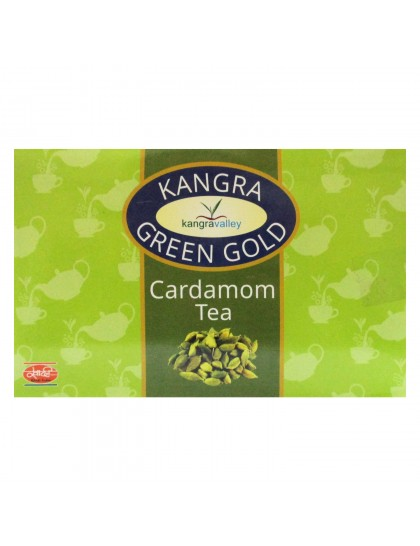 Khadi India Kangra Green Gold Cardamom Tea (100g)