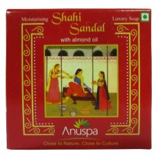Khadi India Anuspa Shahi sandal With Almond Oil For Luxurious Skin (125g)