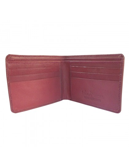 Khadi India Pink Leather Bifold Wallet For Men