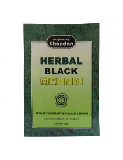 Khadi India Kangavalley Chandan Herbal Black Mehndi Powder (100g)