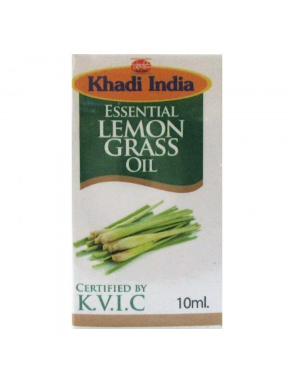 Khadi India Essential Lemongrass Oil (10ml)