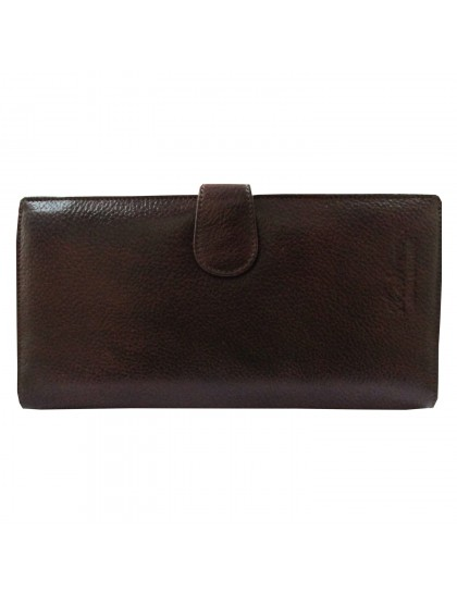Khadi India Brown Leather Holder Cum Wallet