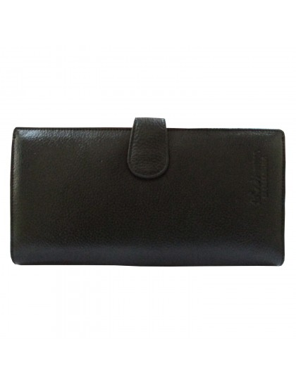 Khadi India Black Leather Holder Cum Wallet