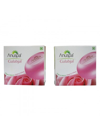 Khadi India Anuspa Gulabjal Soaps 125gX2 (Pack of 2)