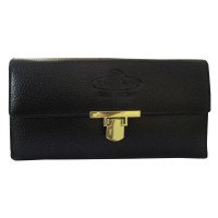 Khadi India Black Leather Wallet For Women