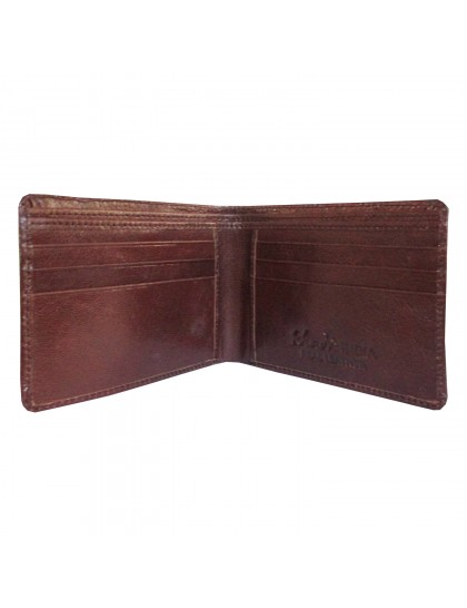 Khadi India Brown Leather Bifold Wallet For Men
