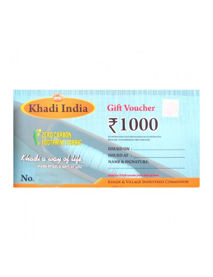 Khadi India Gift Voucher - Rs. 1000
