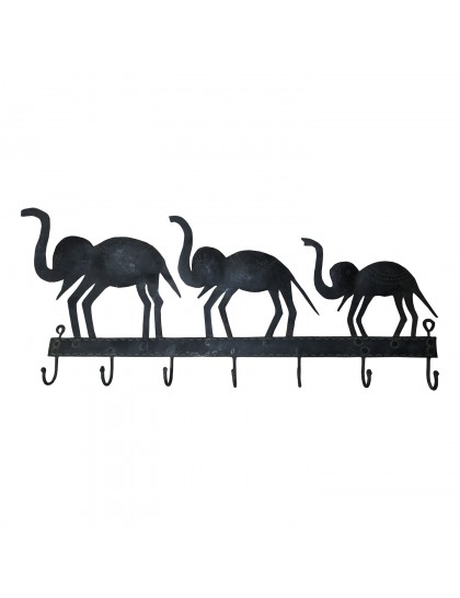 Handmade Wrought Iron Elephant Key Holder