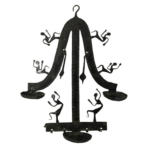 Handmade Wrought Iron Candle Stand