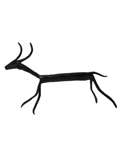 Handmade Wrought Iron Deer Showpiece