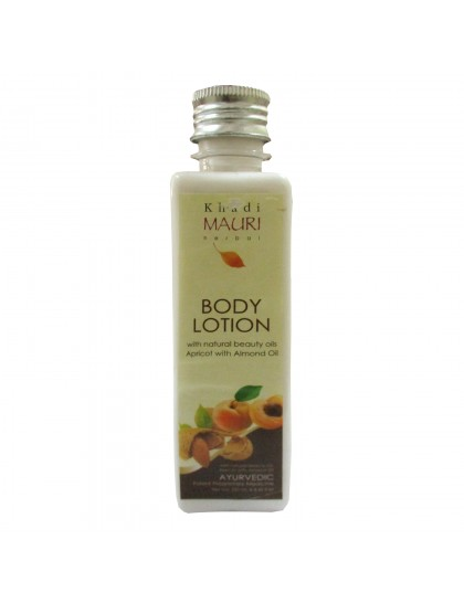 Khadi India Mauri Herbal Body Lotion With Natural Beauty Oils - Apricot With Almond Oil (250ml)