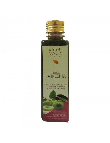 Khadi India Mauri Herbal Satreetha With Natural Extracts Of Shikakai & Neem Shampoo (250ml)