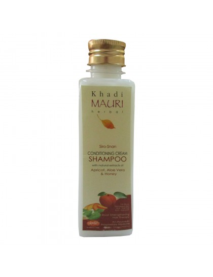 Khadi India Mauri Herbal Siro-Snan Conditioning Cream Shampoo (250ml)
