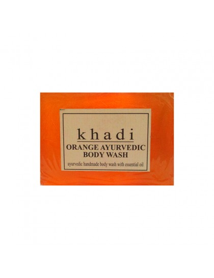 Khadi India Orange Ayurvedic Body Wash (125g)