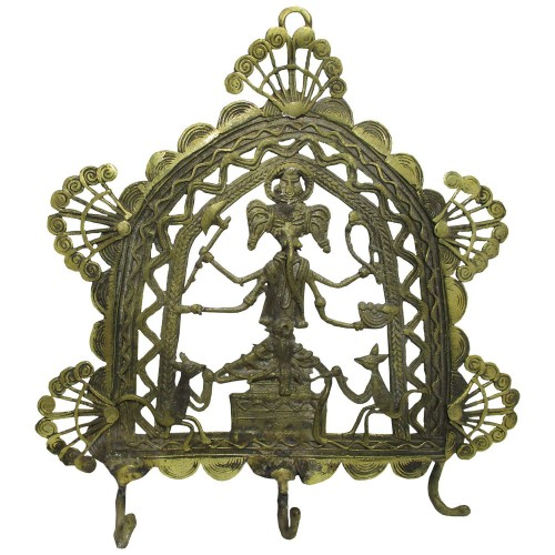 Handmade Brass Dhokra Art Ganesha Key Holder