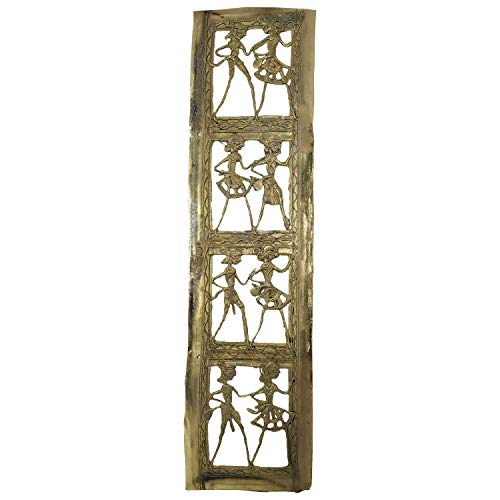 Handmade Brass Dhokra Art Rectangle Wall Hanging/Decor/Showpiece