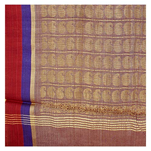 Handwoven Pink Shaded Cotton Saree With Blouse Piece