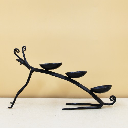 Handmade Wrought Iron Deer Diya Holder/ Diya Stand