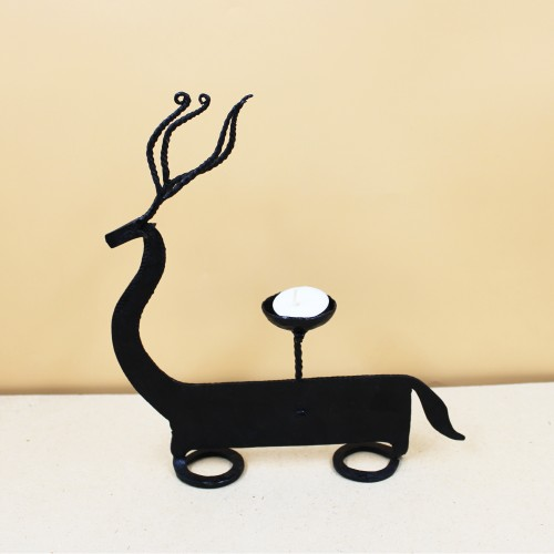 Handmade Wrought Iron Deer Candle Stand/ Candle Holder 06