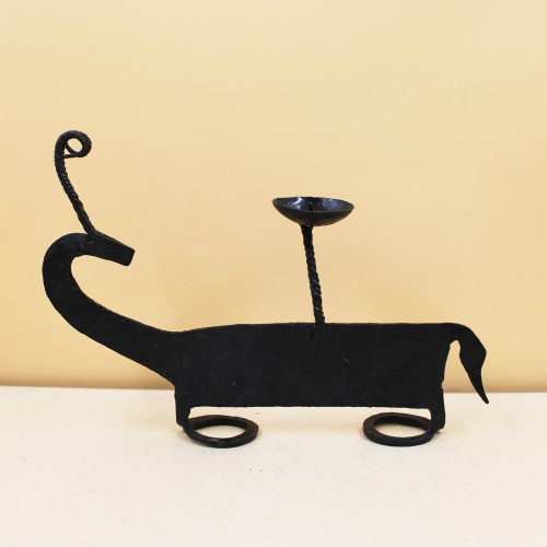 Handmade Wrought Iron Deer Candle Stand/ Candle Holder 07