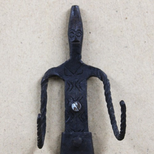 Handmade Wrought Iron Tribal Man (Madia) Key Holder