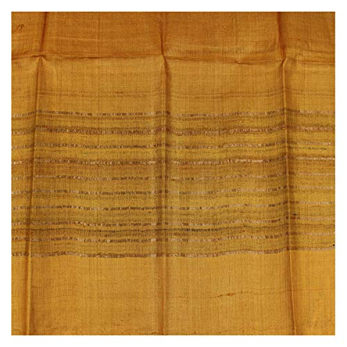 Handwoven Natural Dyed Silk Stole – Yellow