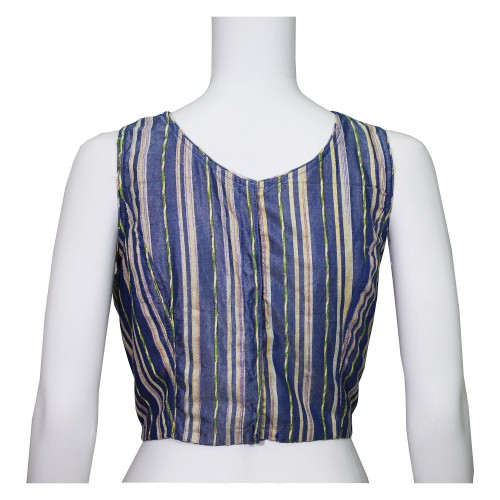 Handwoven Silk Lining Sleeveless Blouse