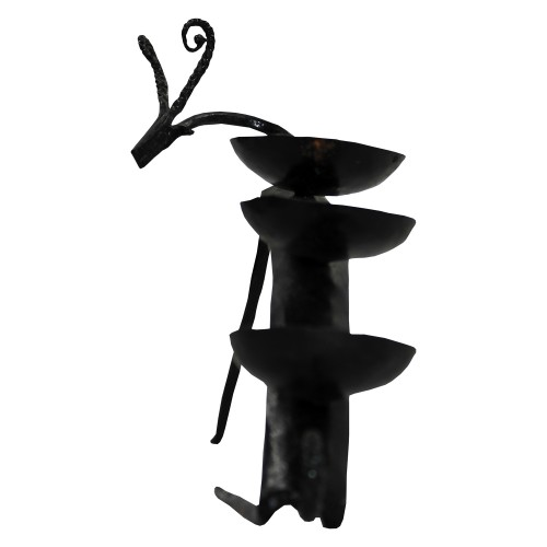 Handmade Wrought Iron Deer Candle Stand/ Candle Holder