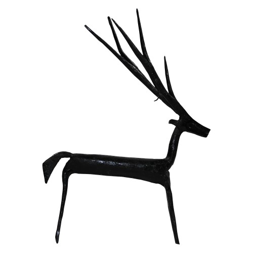 Handmade Wrought Iron Small Deer Decorative Showpiece 08