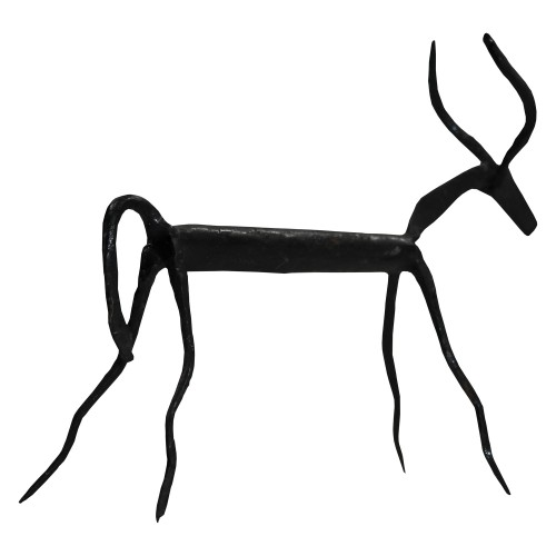 Handmade Wrought Iron Small Deer Decorative Showpiece 11