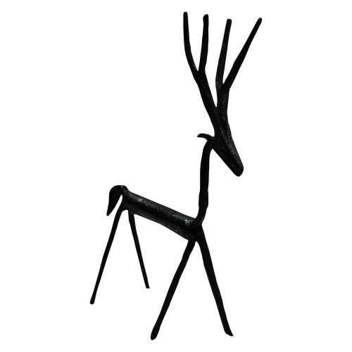 Handmade Wrought Iron Small Deer Decorative Showpiece 15