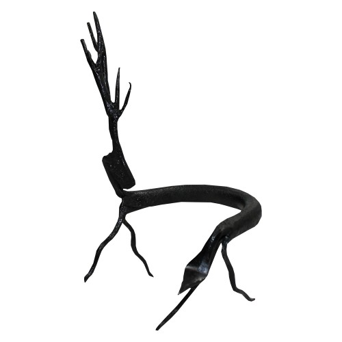Handmade Wrought Iron Small Deer Decorative Showpiece 17