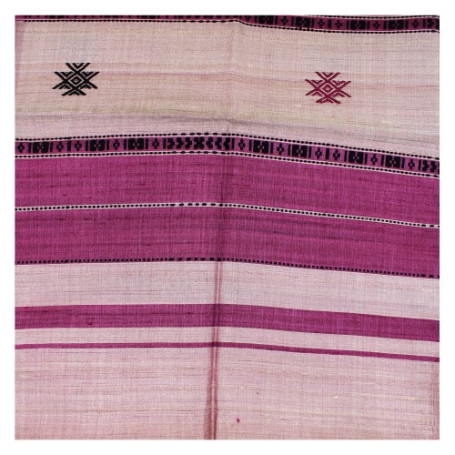 Handwoven Silk Dupatta With Intricate Motifs - Purple
