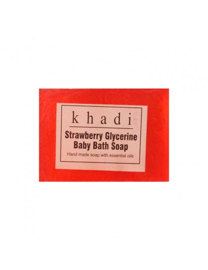 Khadi India Strawberry Glycerine Baby Bath Soap (125g)