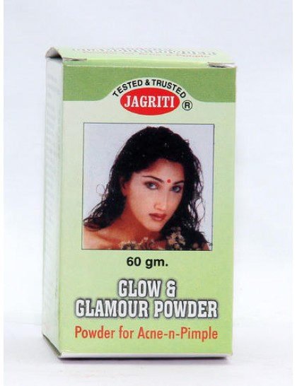Khadi India Jagriti Glow & Glamour Powder For Acne-n-Pimple (60gm)