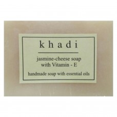Khadi India Jasmine-cheese Soap With Vitamin -E  (125g)