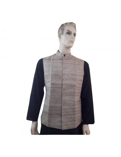 Khadi India Raw Silk Jacket Ethnic Style For Party Wear