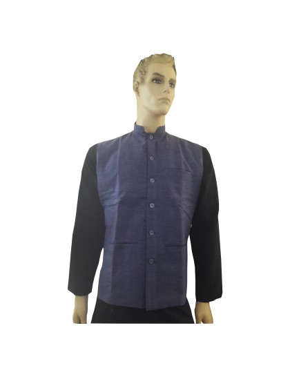 Khadi India Cotton Jacket Ethnic Style For Party Wear (Purple)
