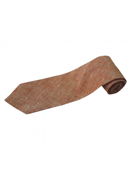 Khadi India Cotton Silk Men's Tie (Brown)
