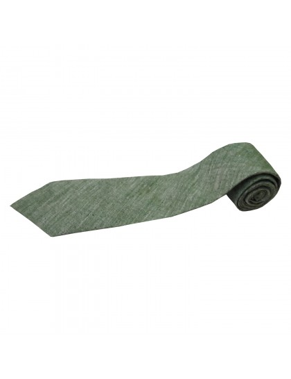 Khadi India Cotton Silk Men's Tie (Green)