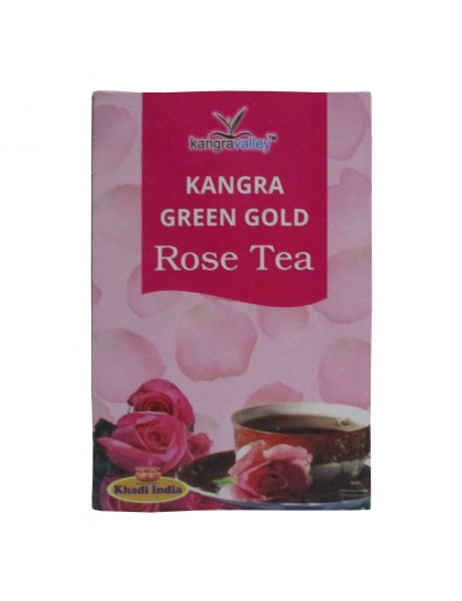 Khadi India Kangra Green Gold Rose Tea (100g)