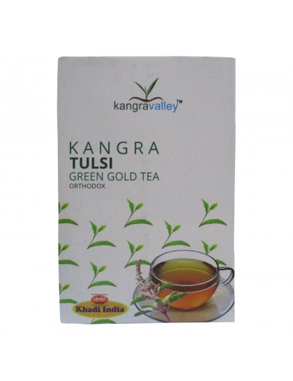 Khadi India Kangra Tulsi Green Gold Tea (100g)