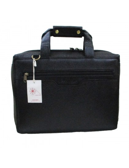Khadi India Men's Laptop Messenger & Shoulder Bags (Black)