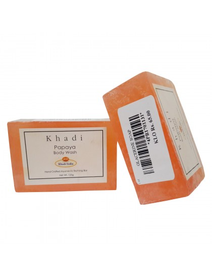 Khadi India Papaya Body Wash 125gX2 (Pack Of 2)