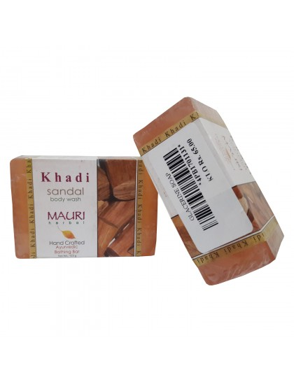 Khadi India Mauri Sandal Body Wash 125gX2 (Pack Of 2)