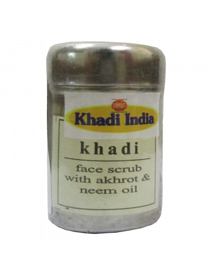 Khadi India Face Scrub with Akhrot & Neem Oil (50g)