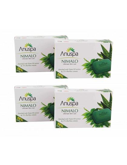Khadi India AnuSpa Nimalo Soap 75+15 gm (Pack of 4)